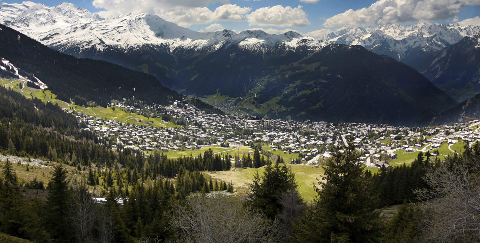 View down to Verbier