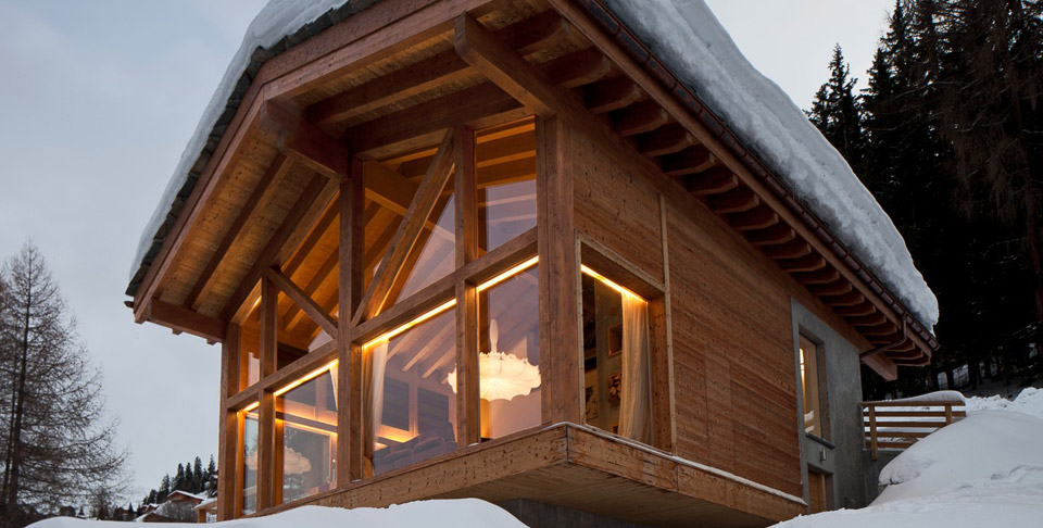 Luxury ski chalet in la tzoumaz 4 vall es switzerland the chalet - Chalet modern design ...